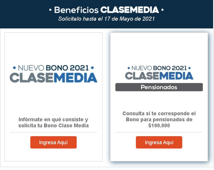 Bono para la Clase Media (Aporte Fiscal) 2021