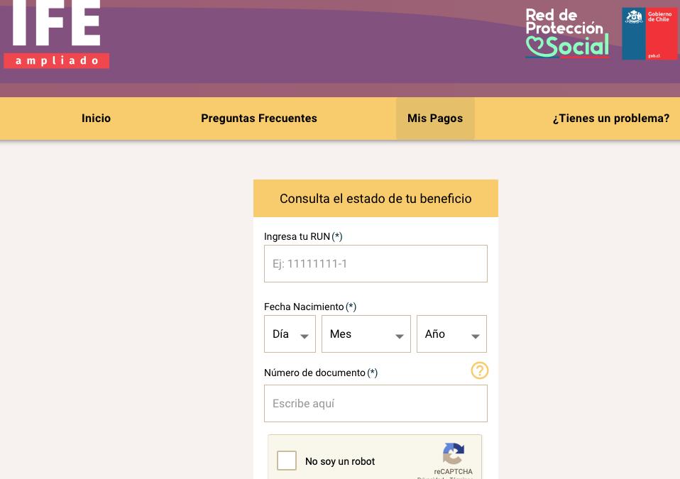 Ingreso Familiar de Emergencia – Ampliado (IFE)